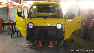 4月度改造電気自動車教室開催:改造電気自動車なら4WDにも対応できます